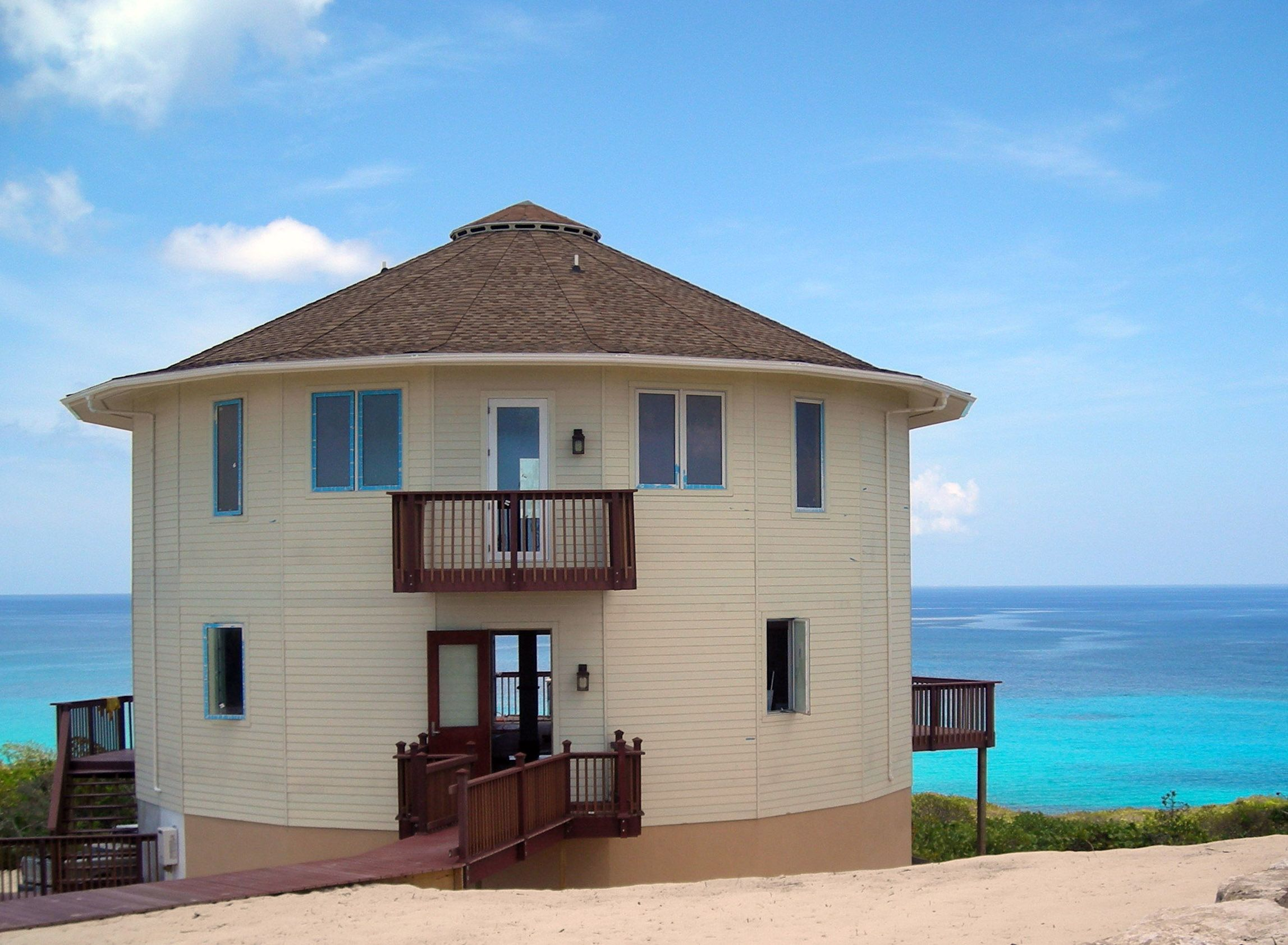 A Stunning Roundhouse Because You Know You Want A Hurricane Resistant Home When You Re Building In The Caribbea Round House Plans Round House Caribbean Homes