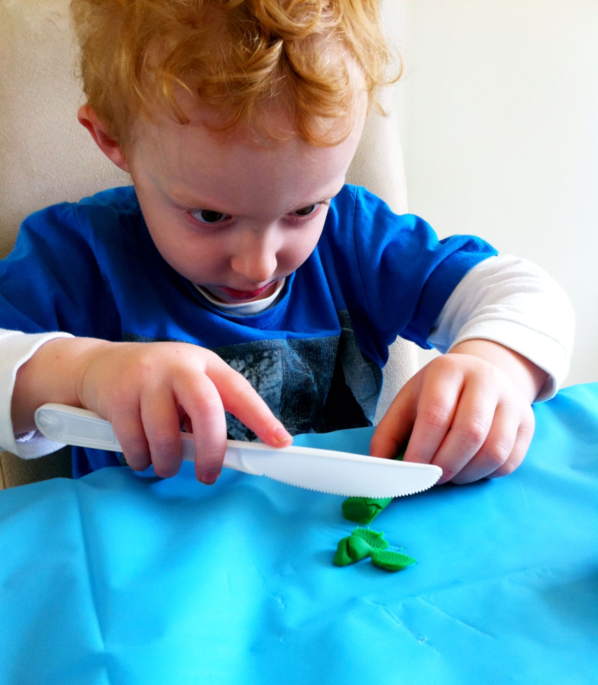 Cutting Skills With Play Dough