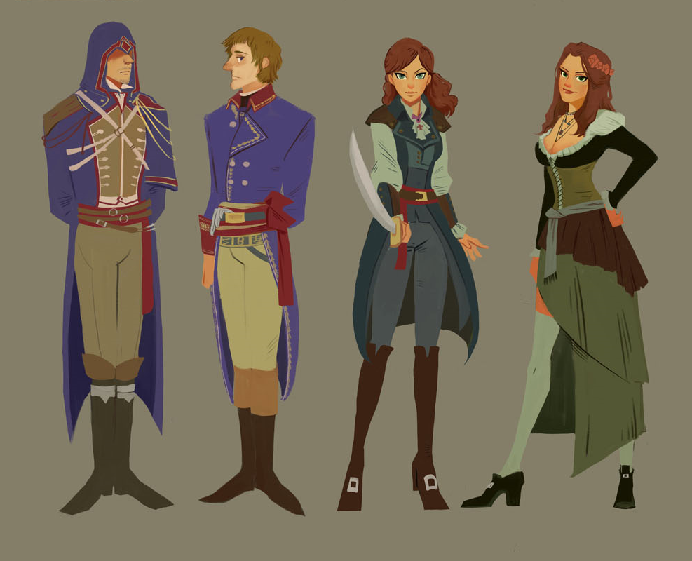 Assassins Creed Unity Art Arno Dorian Napoleon Bonaparte Elise