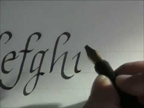 How to write italic letters for beginners easy version