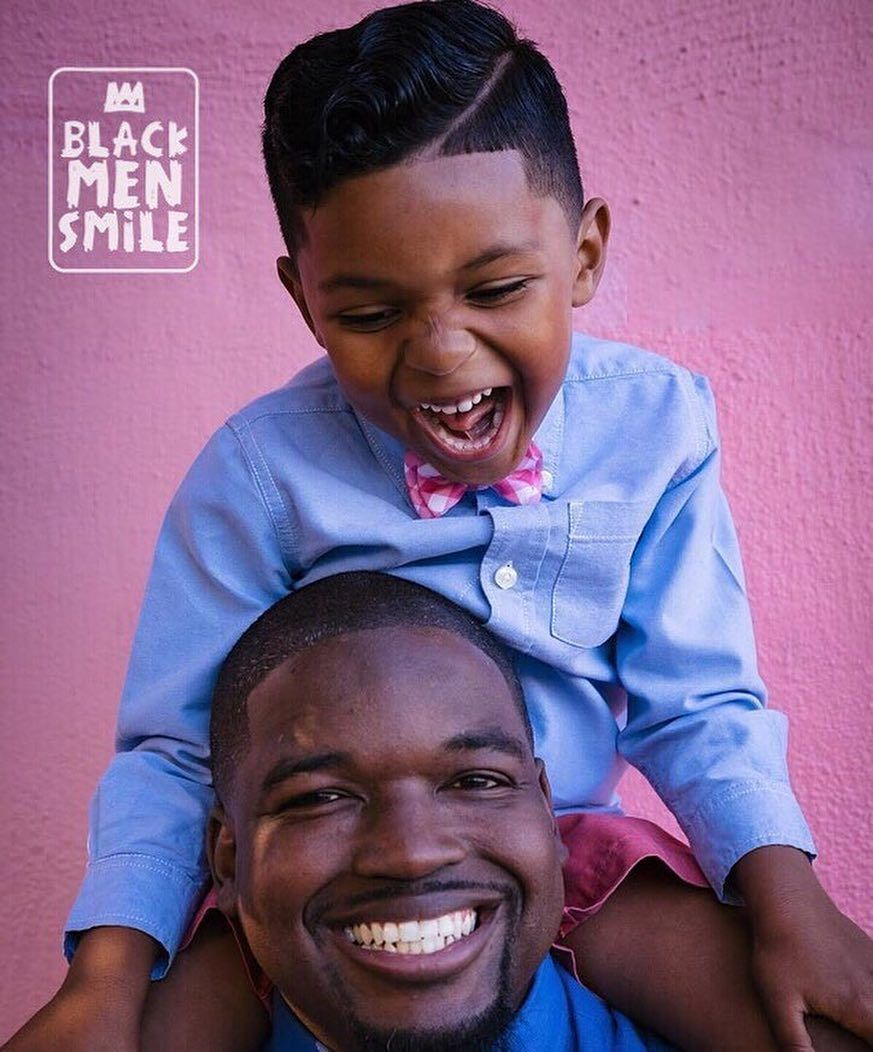 "BLACK MEN SMILE: ""Celebrating the way we see ourselves."" 