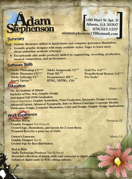 adamstevenson 20 Creative Resume Designs Which Will Amaze Any - artsy resume templates
