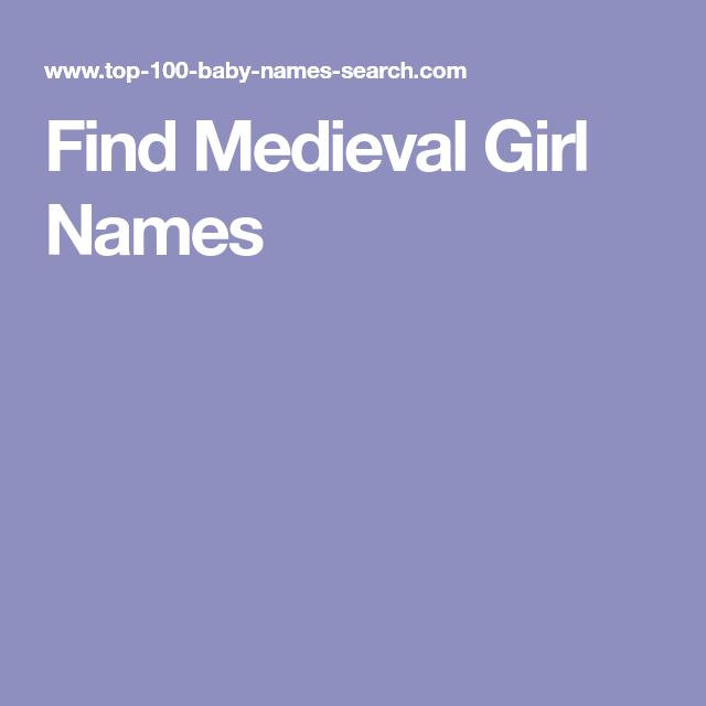 Medieval Girl Name