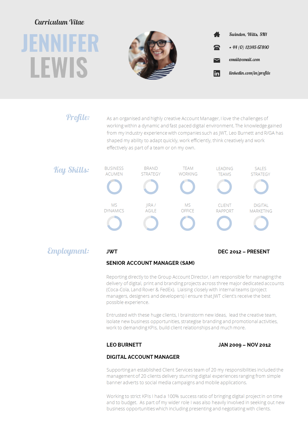 13 Slick and Highly Professional CV Templates (con imágenes)