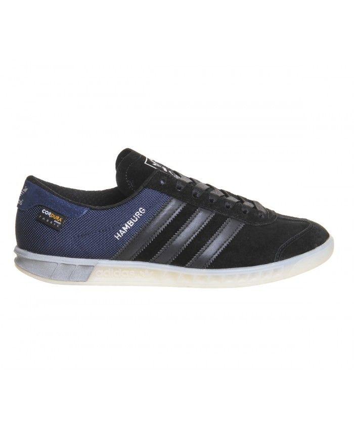 Adidas Hamburg Tech Core Black Chalk White Trainers Sale | Adidas ...