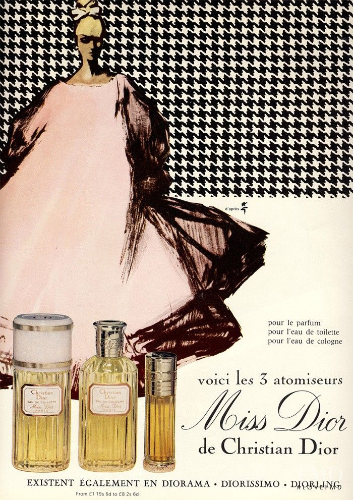 Dior Beauty Fragrance - Miss Dior de Christian Dior advertisement for Spring/Summer 1967