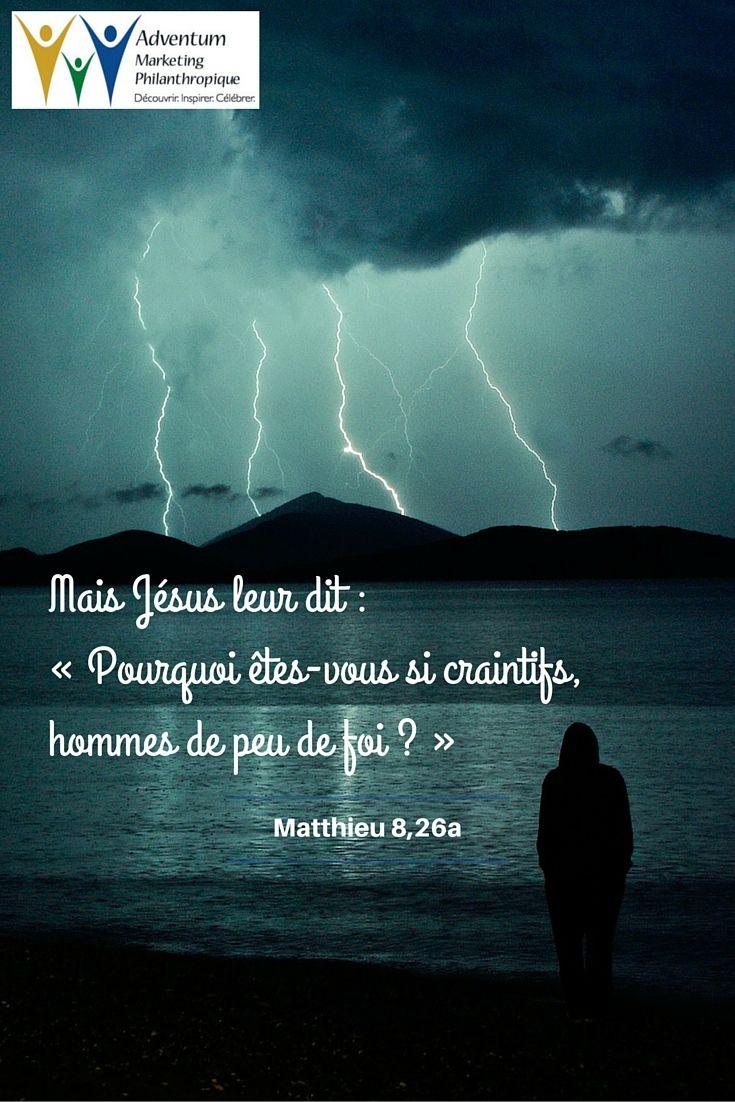 27 juin 2016 – Matthieu 8,26a (avec images) | Texte biblique ...
