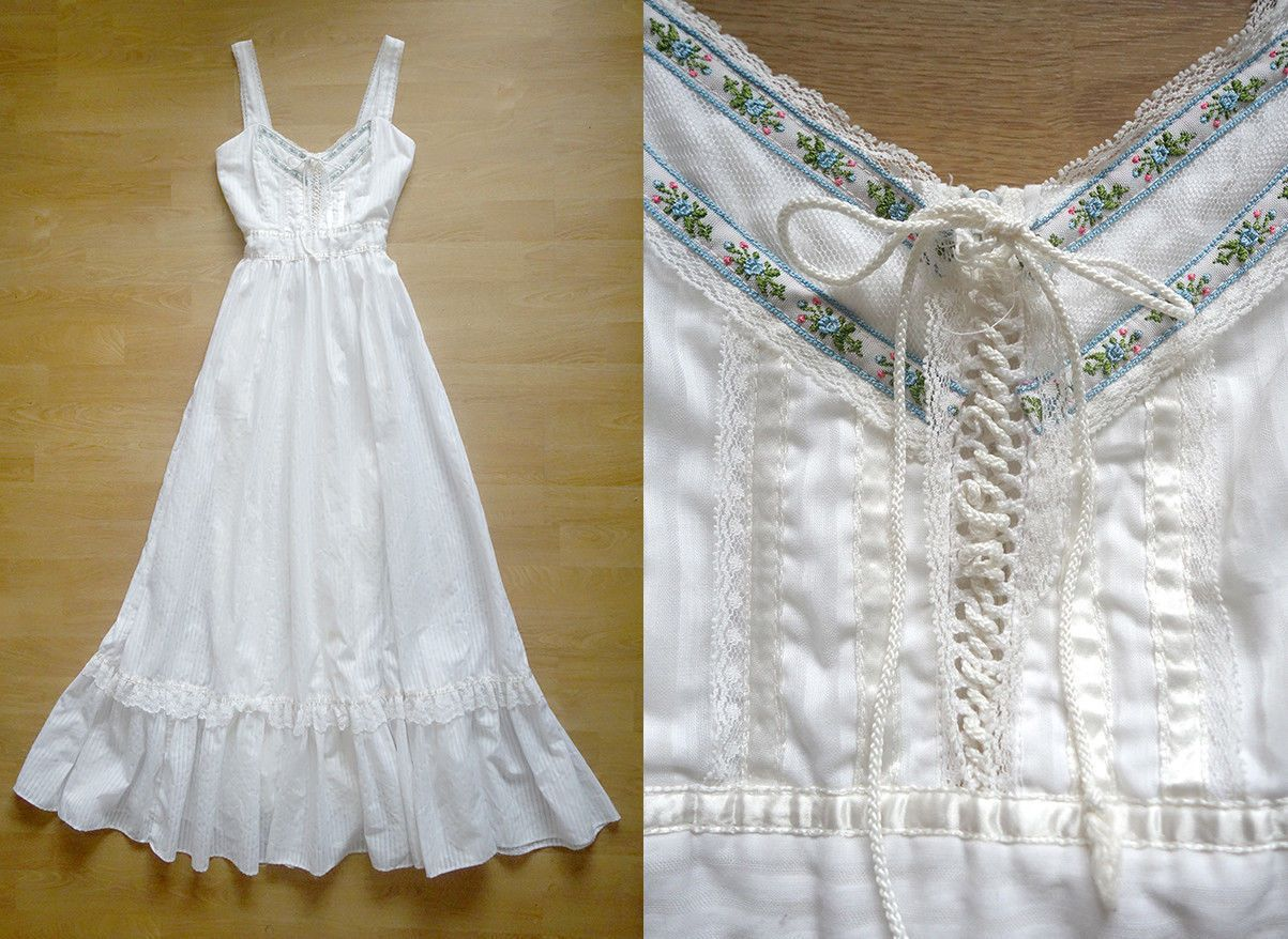 Gunne sax dress jessica mcclintock boho wedding dress vintage s