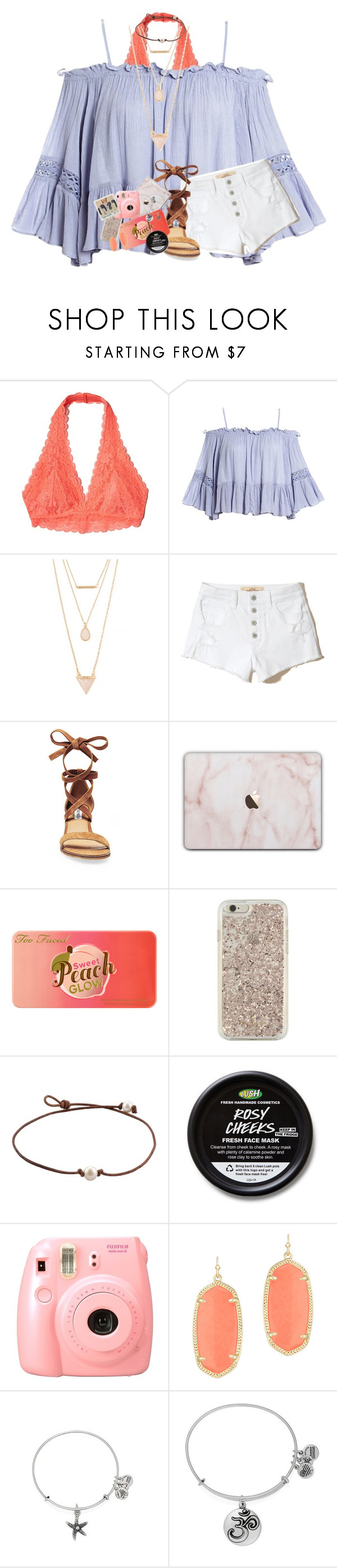 """taylor's music is back on spotify "" by lindsaygreys ❤ liked on Polyvore featuring Hollister Co., Sans Souci, Forever 21, Steve Madden, Too Faced Cosmetics, Kate Spade, Fujifilm, Kendra Scott and Alex and Ani"