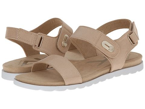 Womens Sandals Anne Klein Viewer Natural Fabric