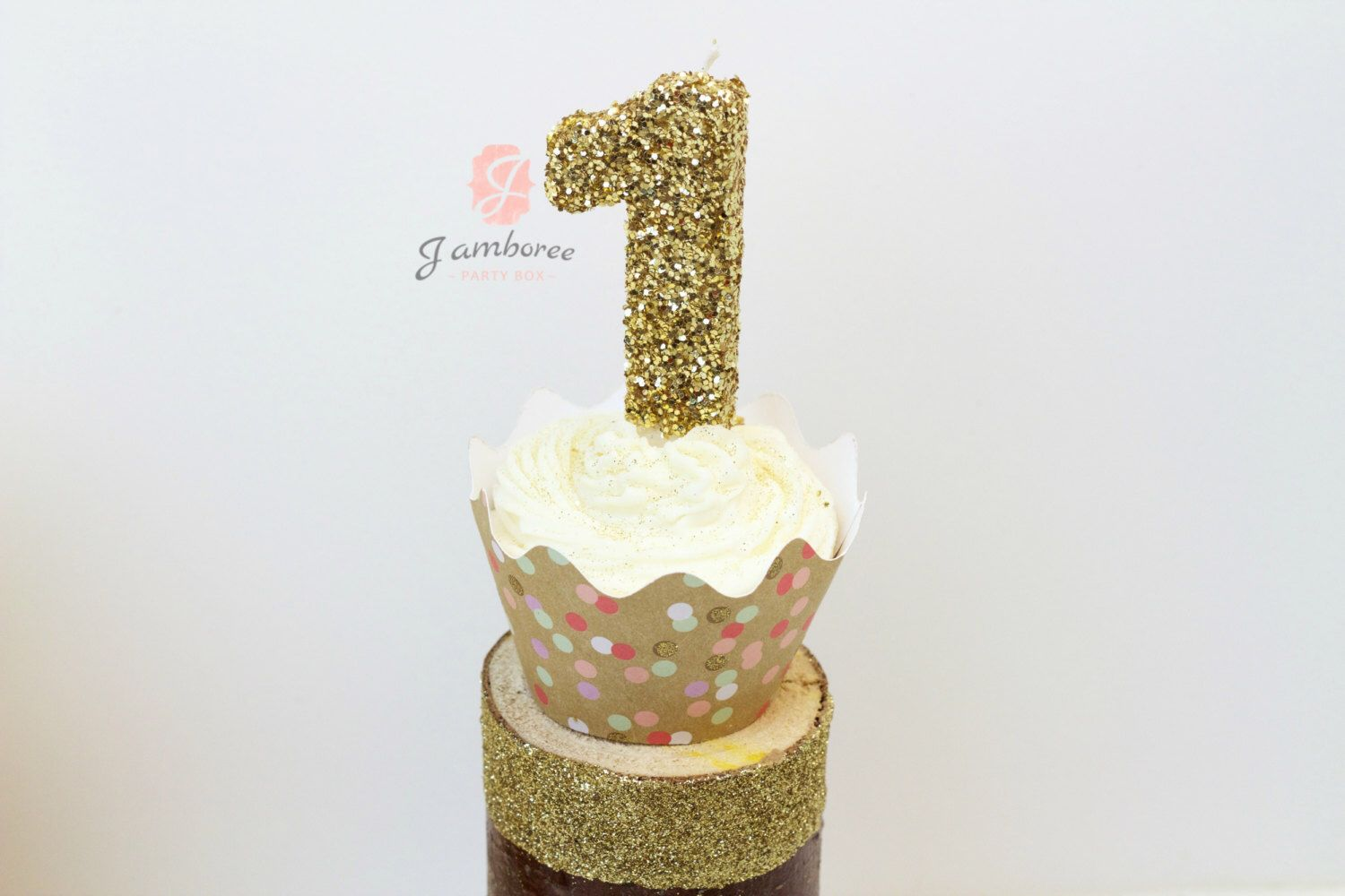 3 Or 5 Glitter Number 1 Birthday Candle Giant First Large Gold Pink One