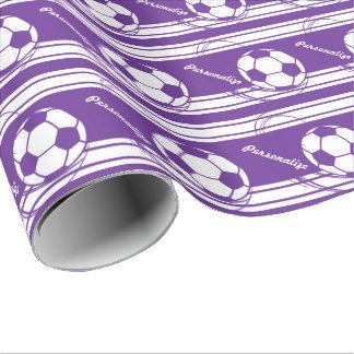 purple birthday wrapping paper | Purple Soccerball Gift Wrap Gift Wrap Paper