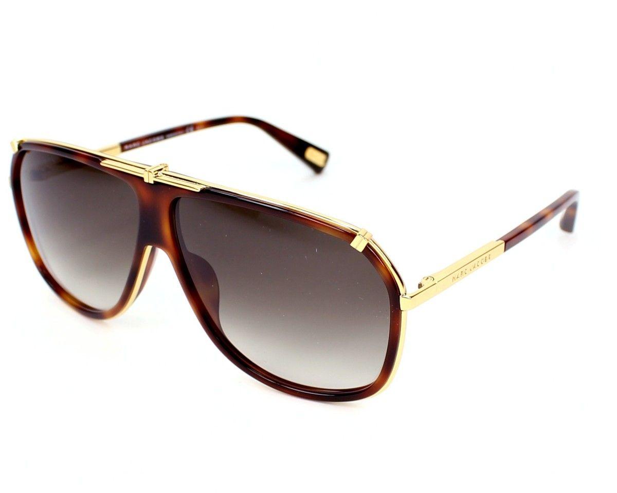 04df8a5db2699 Achetez en ligne les lunettes de soleil Marc Jacobs MJ305 S 001JS Ecaille -  Or et recevez-les chez vous sous 2-3 jours et la livraison est gratuite !