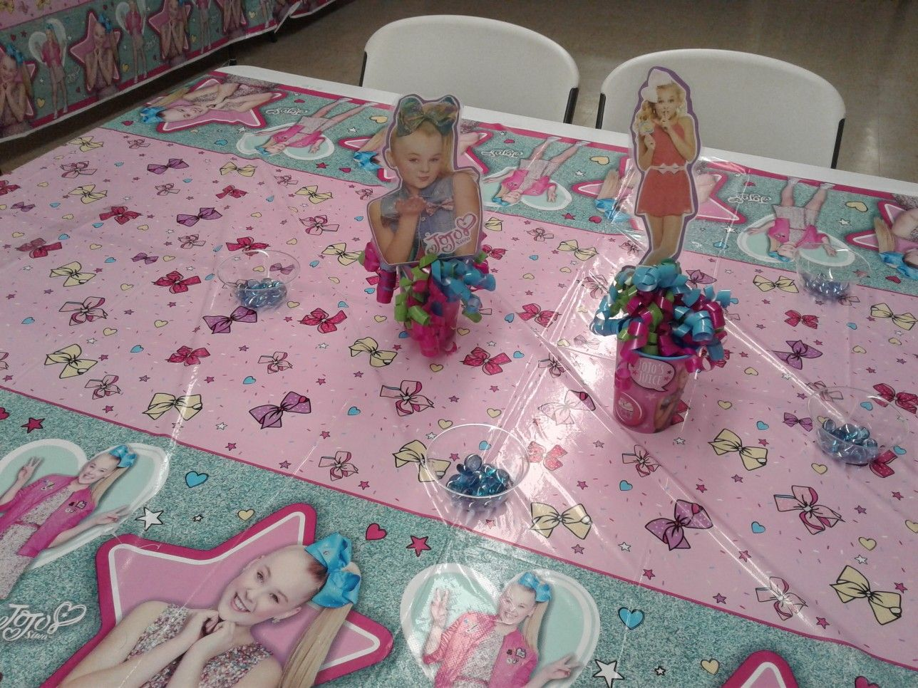 Made My Own Jojo Siwa Centerpieces For My Daughters Party Jojo