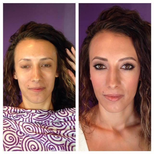 BTS Before and After with Melanie's beautiful bridesmaid. Make-up by Maya Goldenberg. Hair by Salon Otazzi (PortCredit ON). www.mayagoldenberg.com  #bridal #makeup #makeupartist #bridalbeautyspecialist #Toronto