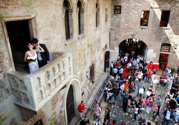 Verona Italy Juliet S Purported Balcon From The Story Of