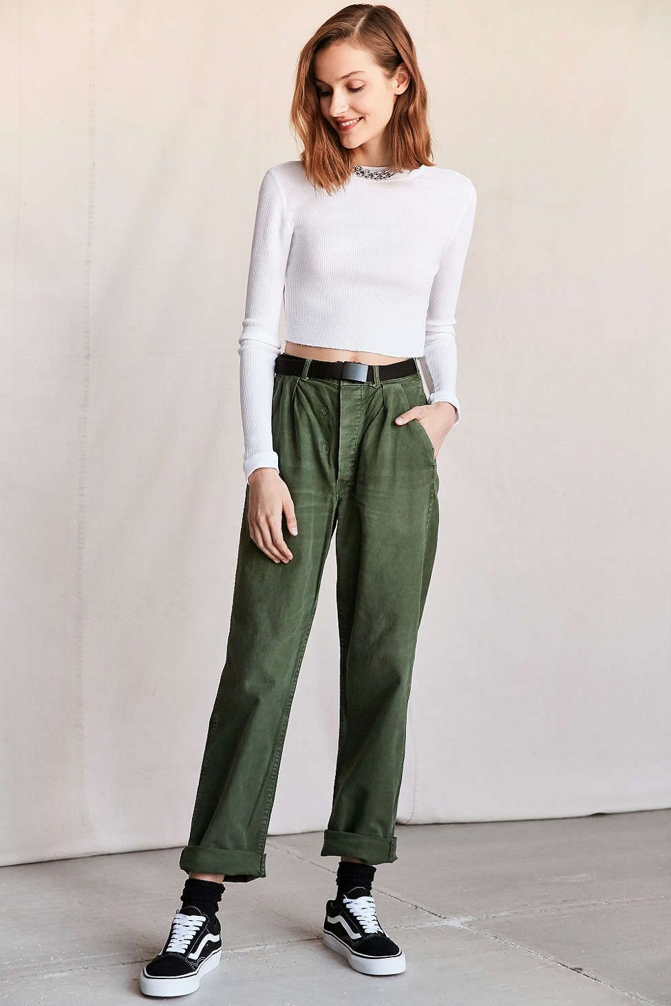 048608516df2 Vintage Army Green Work Pant - Urban Outfitters