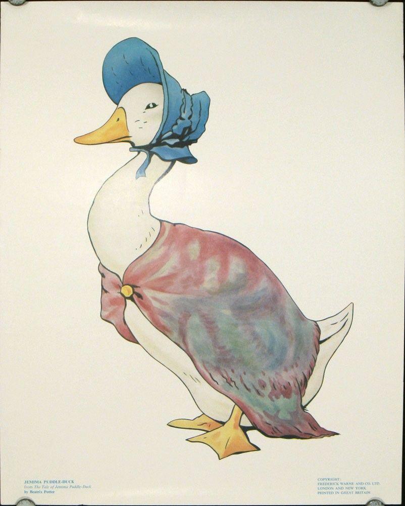 Beatrix Potter Illustrations Five Vintage Color Prints Beatrix Potter Illustrations Beatrix Potter Illustration
