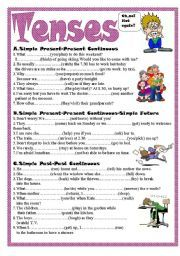 English worksheet: Tenses | random thoughts | Pinterest ...