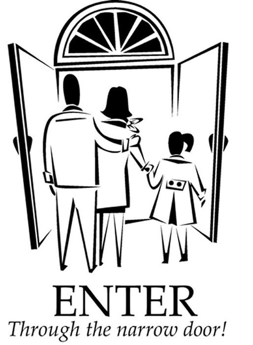 Narrow Door Coloring Page Childrens Sermons Coloring Pages