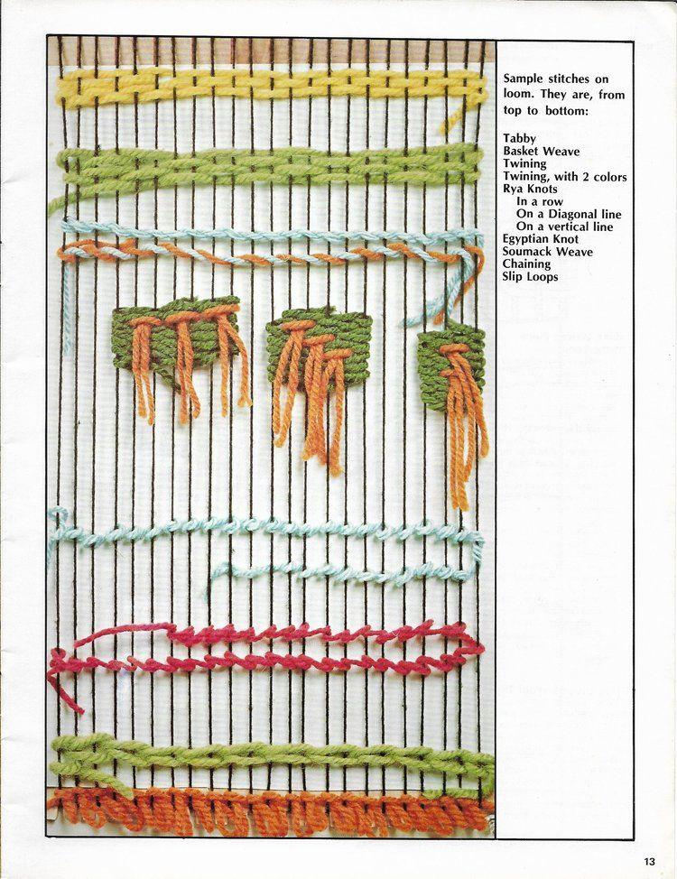 Weaving For Home Decor • Vintage 1970s Weave Flatloom Weaver Book
