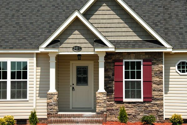 Front Porch Rock Column Pictures New Construction Homes For
