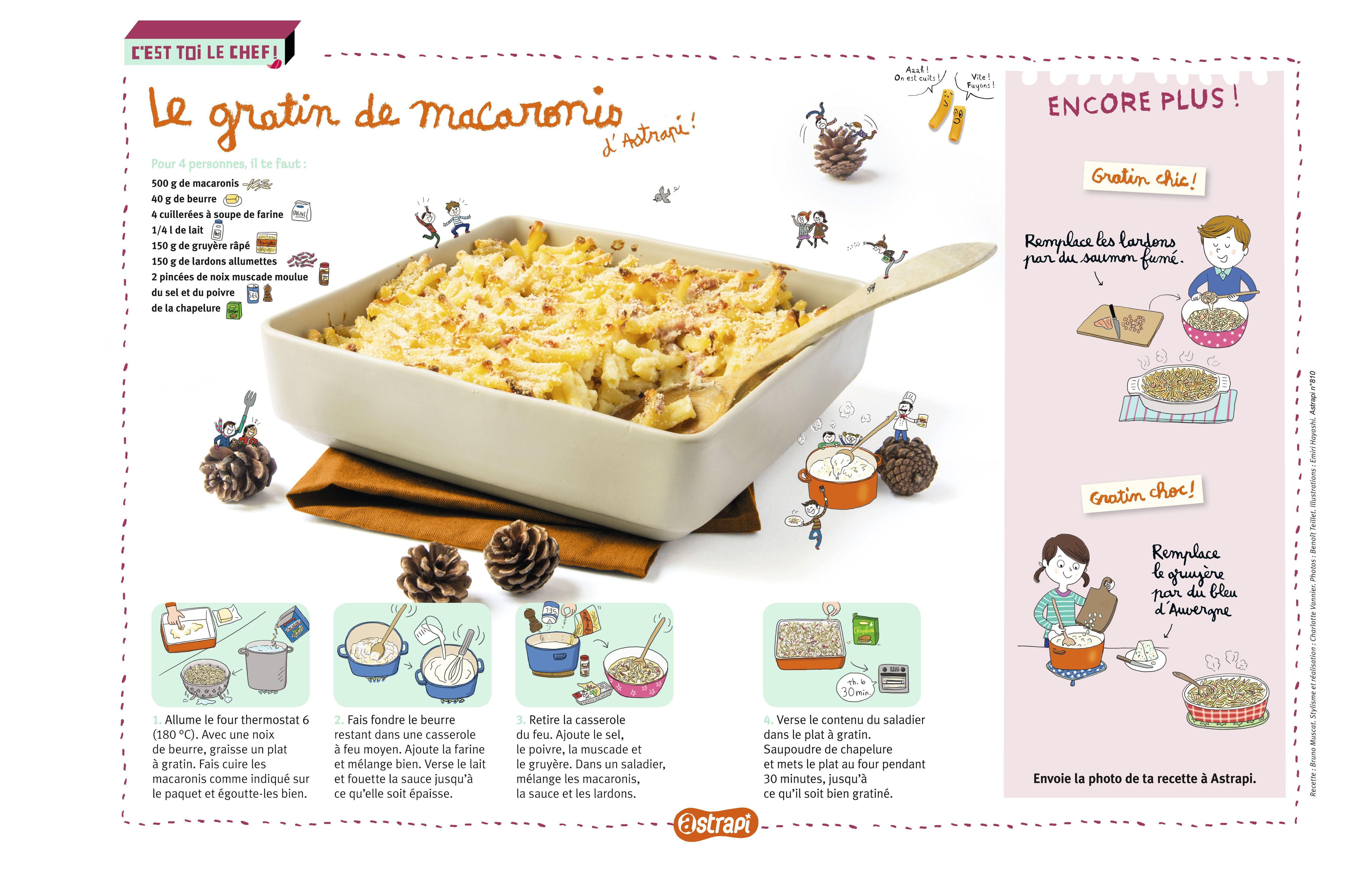Le gratin de macaronis d 39 astrapi une recette pour les enfants base des c l bres p tes - Recette legume pour enfant ...