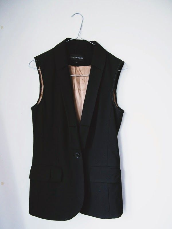 FASHION STATEMENT: DIY BLAZER VEST  http://sugarethoney.blogspot.fi/2014/10/diy-blazer-vest.html