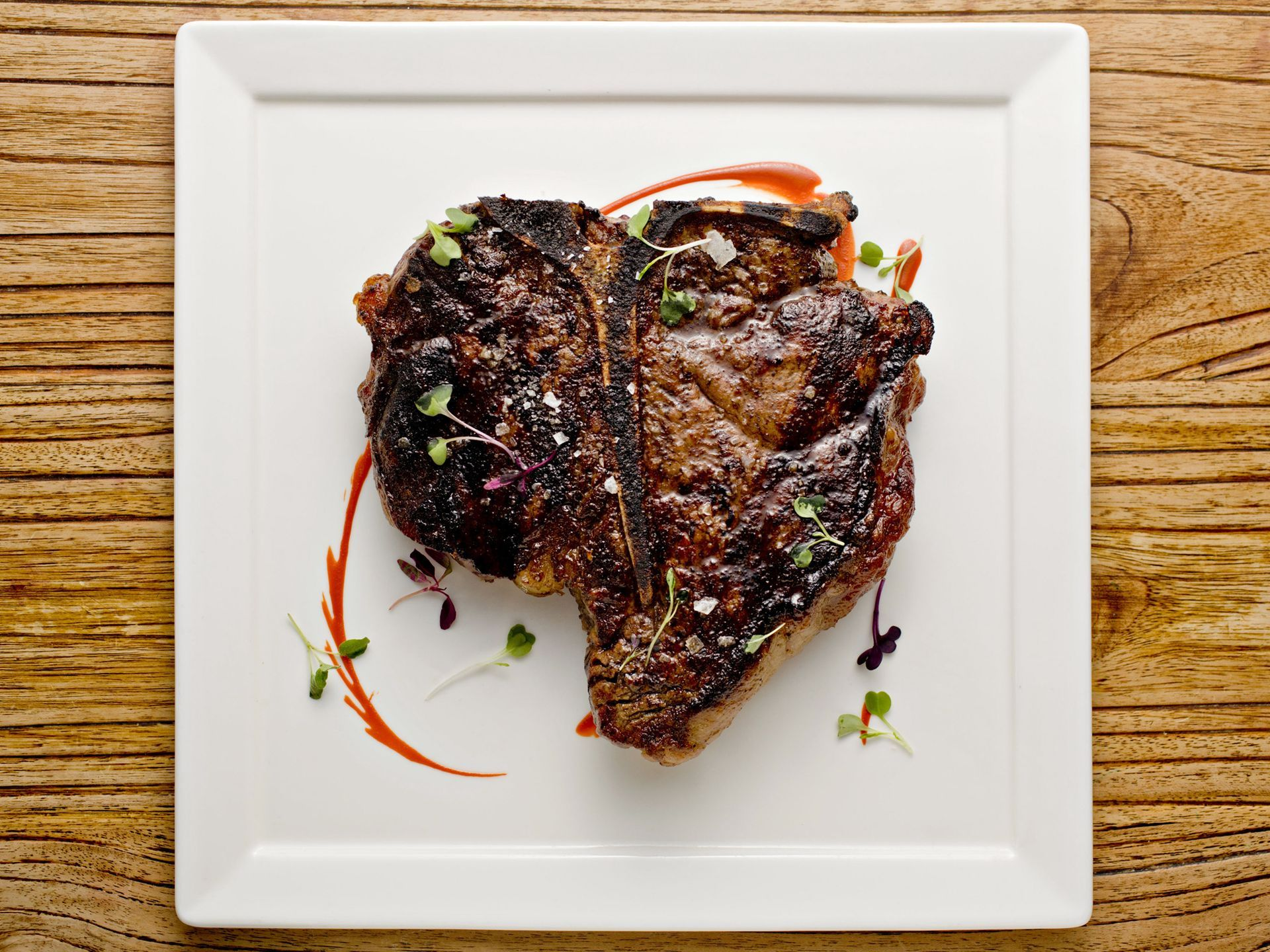 The 32-ounce porterhouse steak from Bourbon Steak is butter-poached and dry-aged. (Photo: John Samora/The Republic)