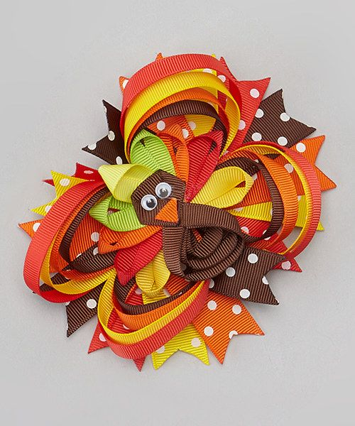 Look at this Bubbly Bows Fancy Turkey Clip on #zulily today!