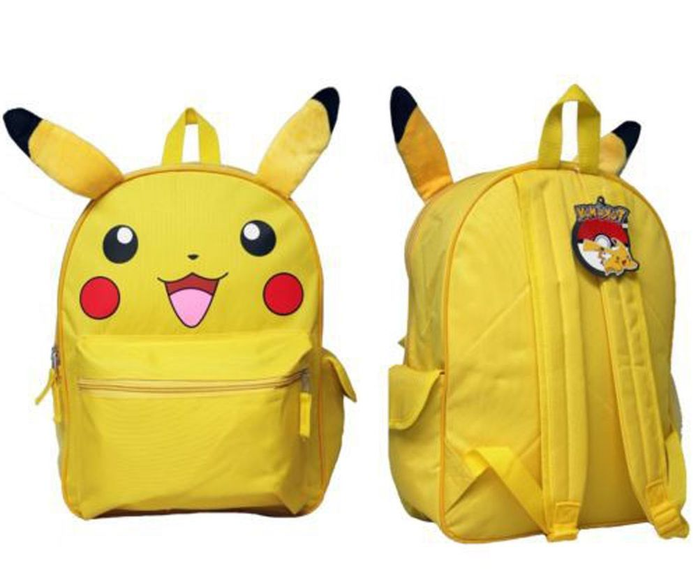 d598826ddd40 Baby Kids Pokemon Pikachu Backpack Bag Plush Ear Toddler Boys Girls Book Bag  12
