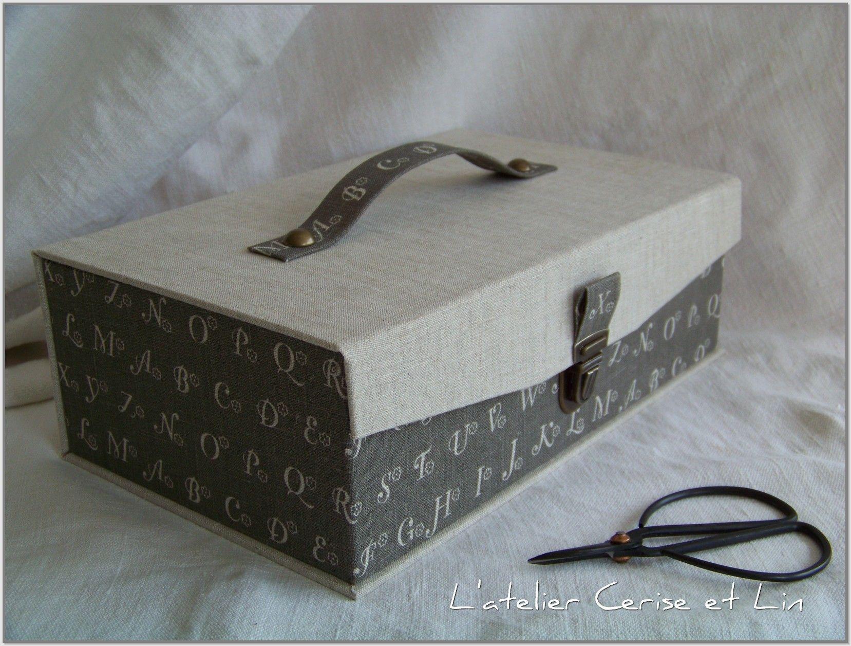 Ma bo te outils blog cerise et lin tuto cartonnage for Boite a couture pour fillette