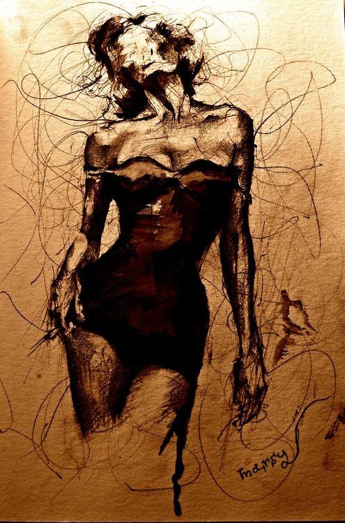 felixinclusis:  eatsleepdraw: my femme fatale. Artwork by vintage-serenity-dream