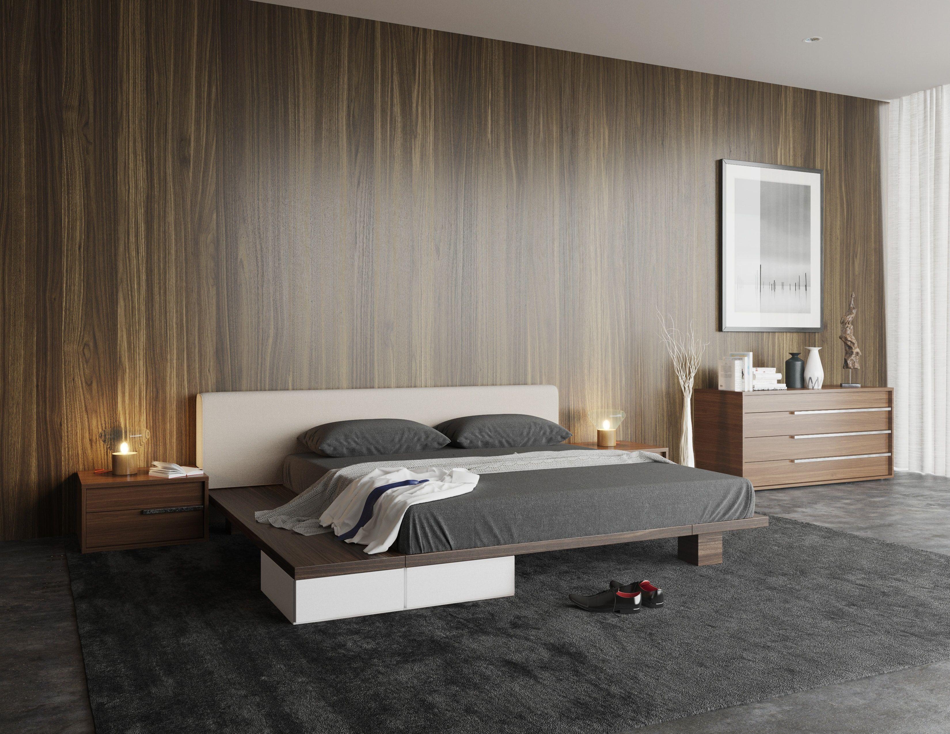Monviso Modern Platform Bed Bedroom Pinterest