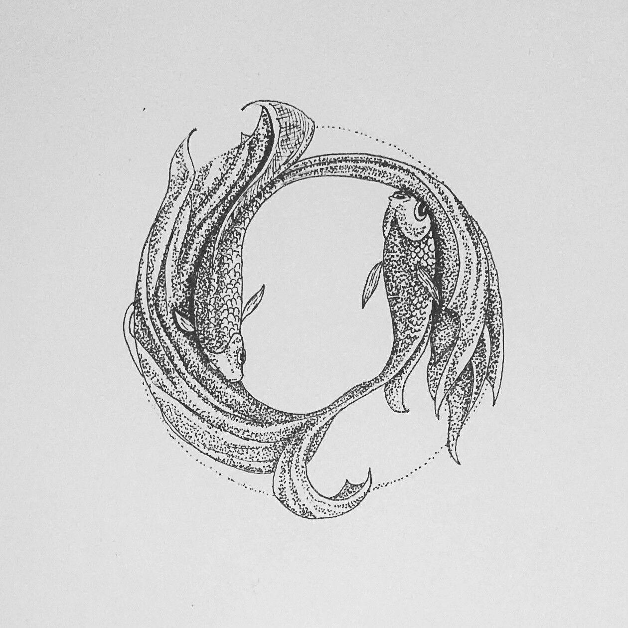 guppy fish #guppy #fish #practice #pointillism #dotwork #