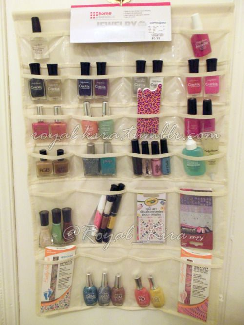 My inexpensive Nail Polish storage: a Jewelry Organizer! This is ...