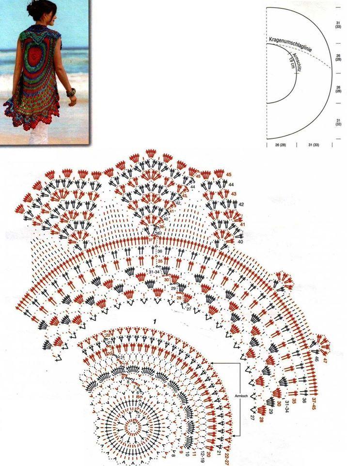 b7b9492ecdee kruhová vesta schéma. kruhová vesta schéma Krásne Háčkovanie