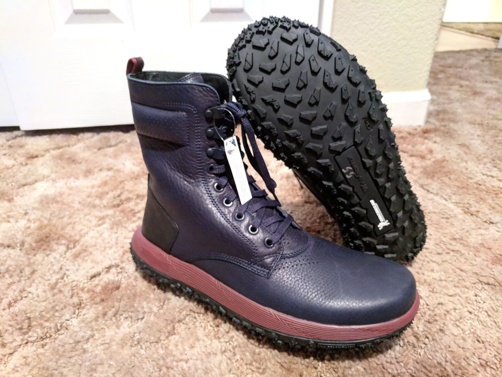 new product d88e0 b9f4d Under Armour UAS RLT Fat Tire Sherpa Leather Boots Navy Blue ...