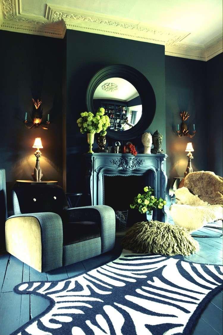 Peinture salon moderne – apprivoisez les couleurs sombres ! | Home ...