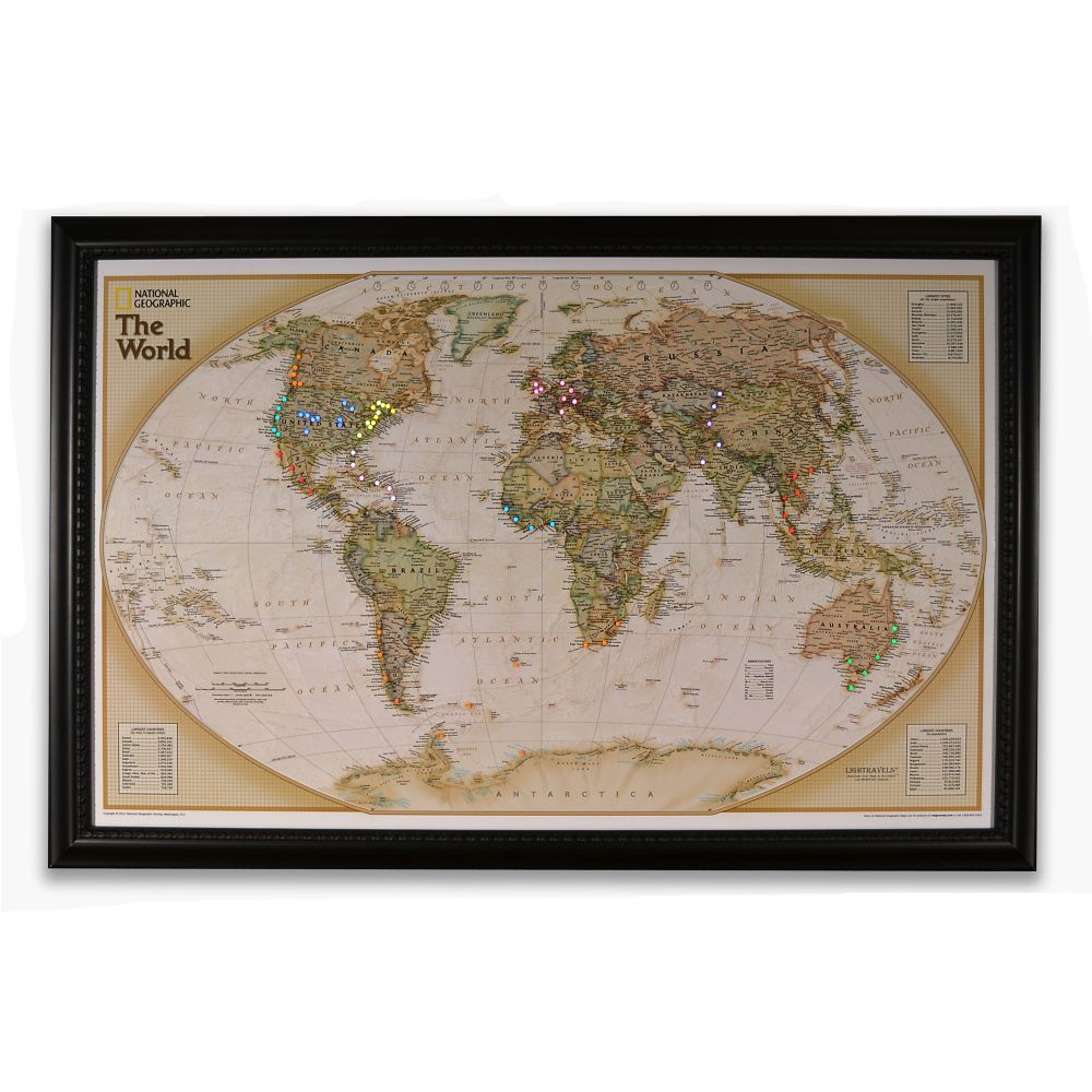 National geographic light your way customizable world map earth national geographic light your way customizable world map earth toned national geographic store gumiabroncs Images