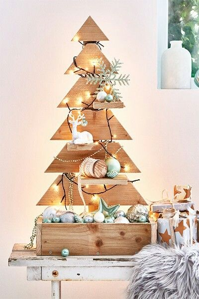 Cmas tree with shelves nu #weinkistendekoweihnachten