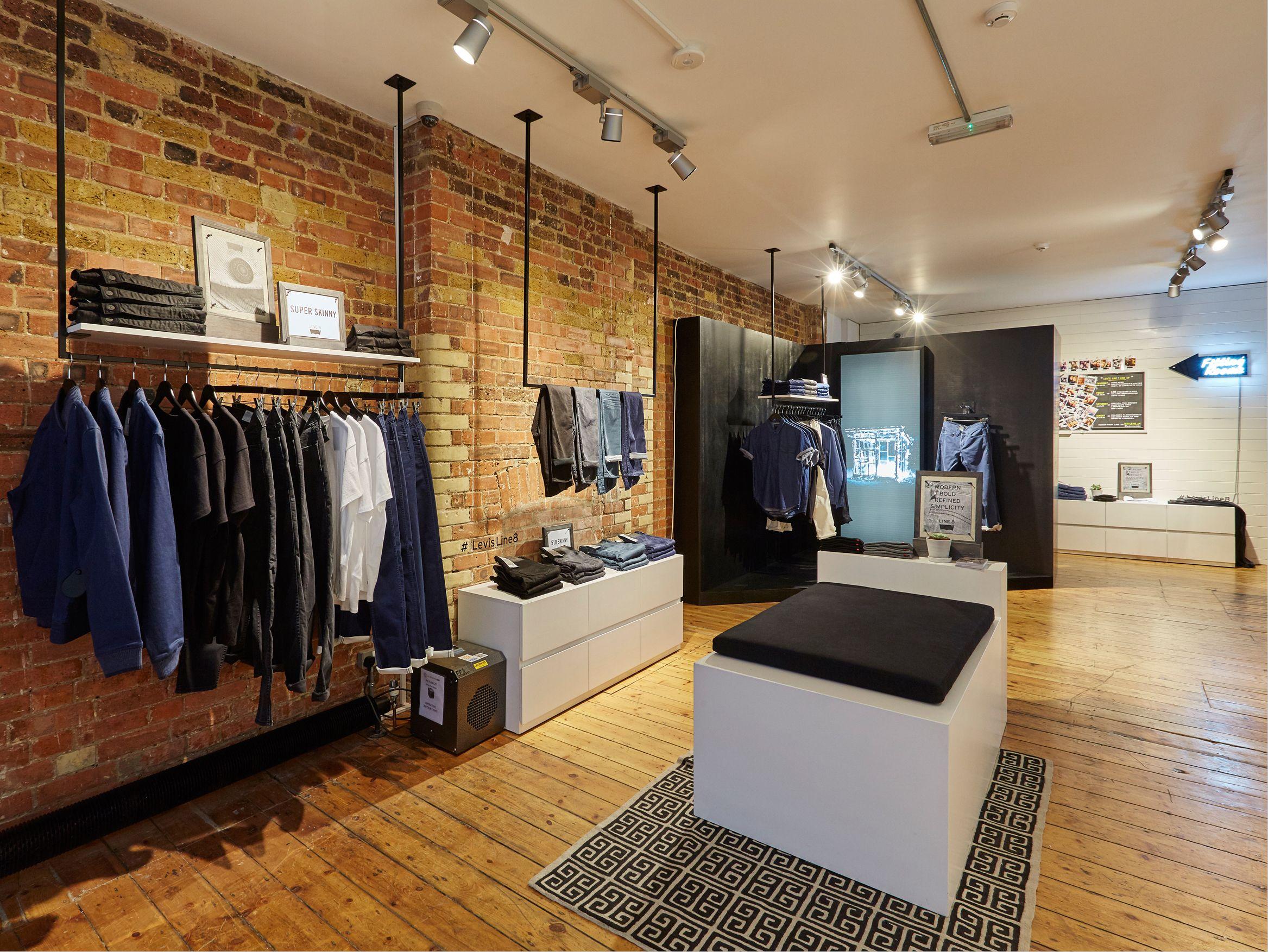 FormRoom for Levi's   Line 8 Pop-Up, Charlotte Road   #Levis #Line8 #PopUp #RetailInteriors #StoreDesign #VM
