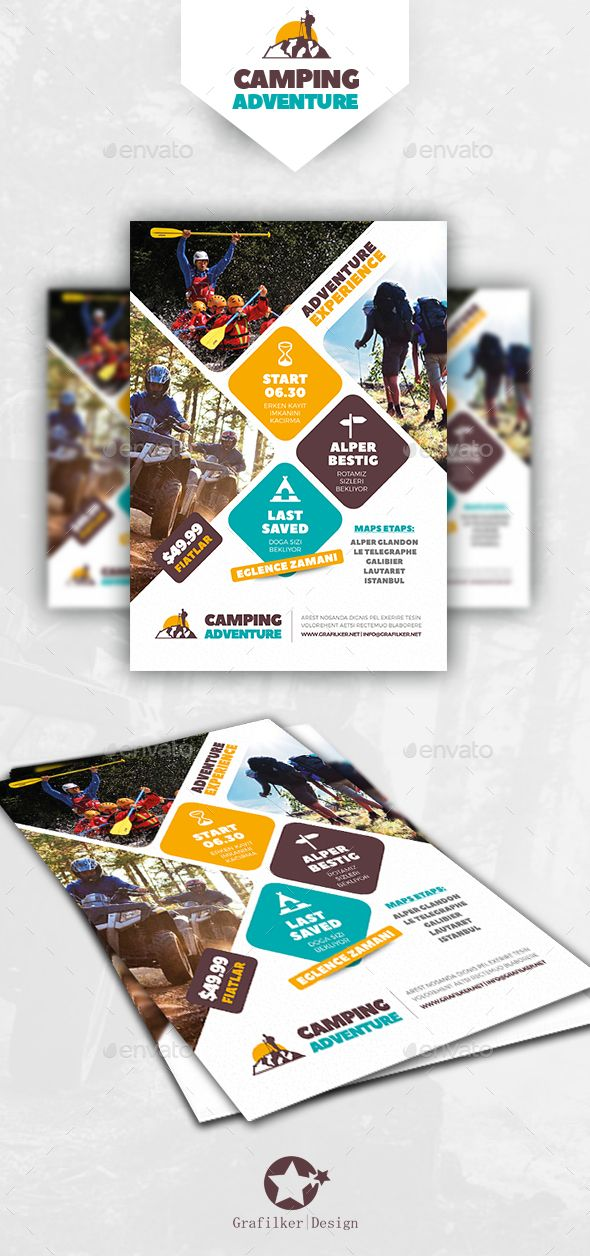 Camping Adventure Flyer Templates | Flyer template, Template and ...