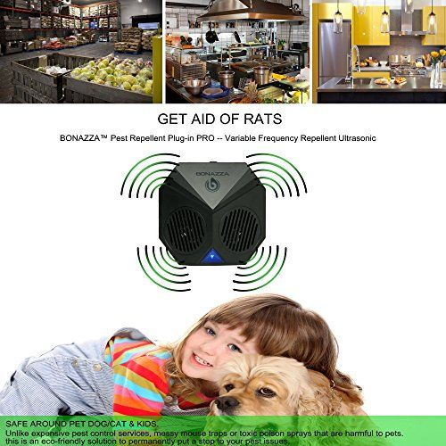 Bonazza Plug In Ultrasonic Pest Repeller Best For Garages Attics And Basements Electronic Pest Control Products That Garage Dachboden Ultraschall Nagetiere