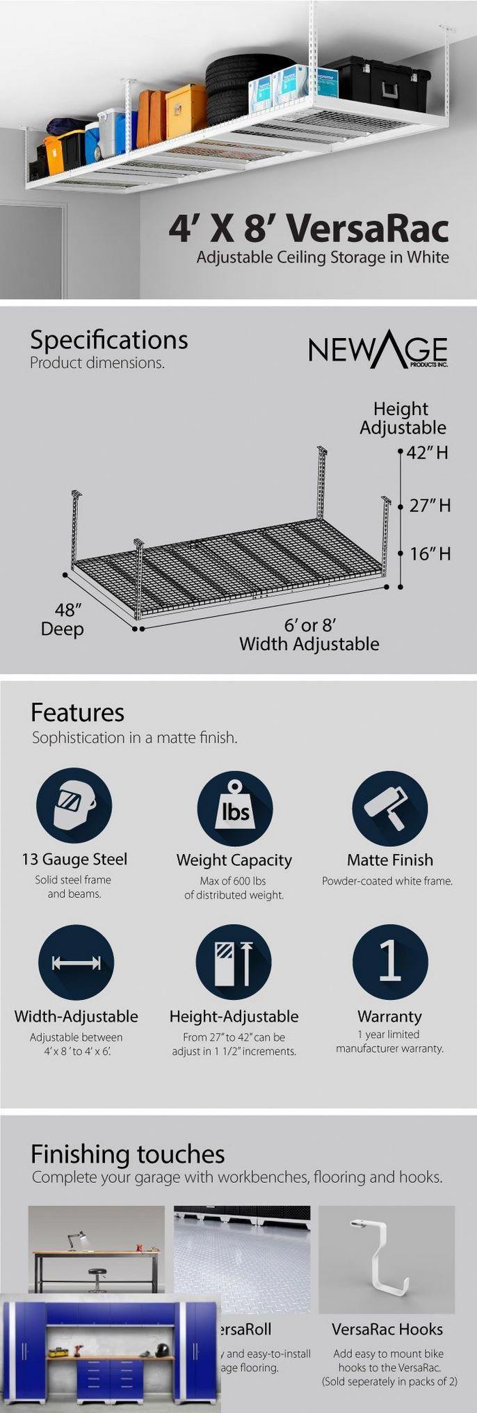 Heavy Duty Garage Shelving Costco And Garage Ceiling Storage Rack Plans Garageshelving Opslag Meubel Ideeen Opberging