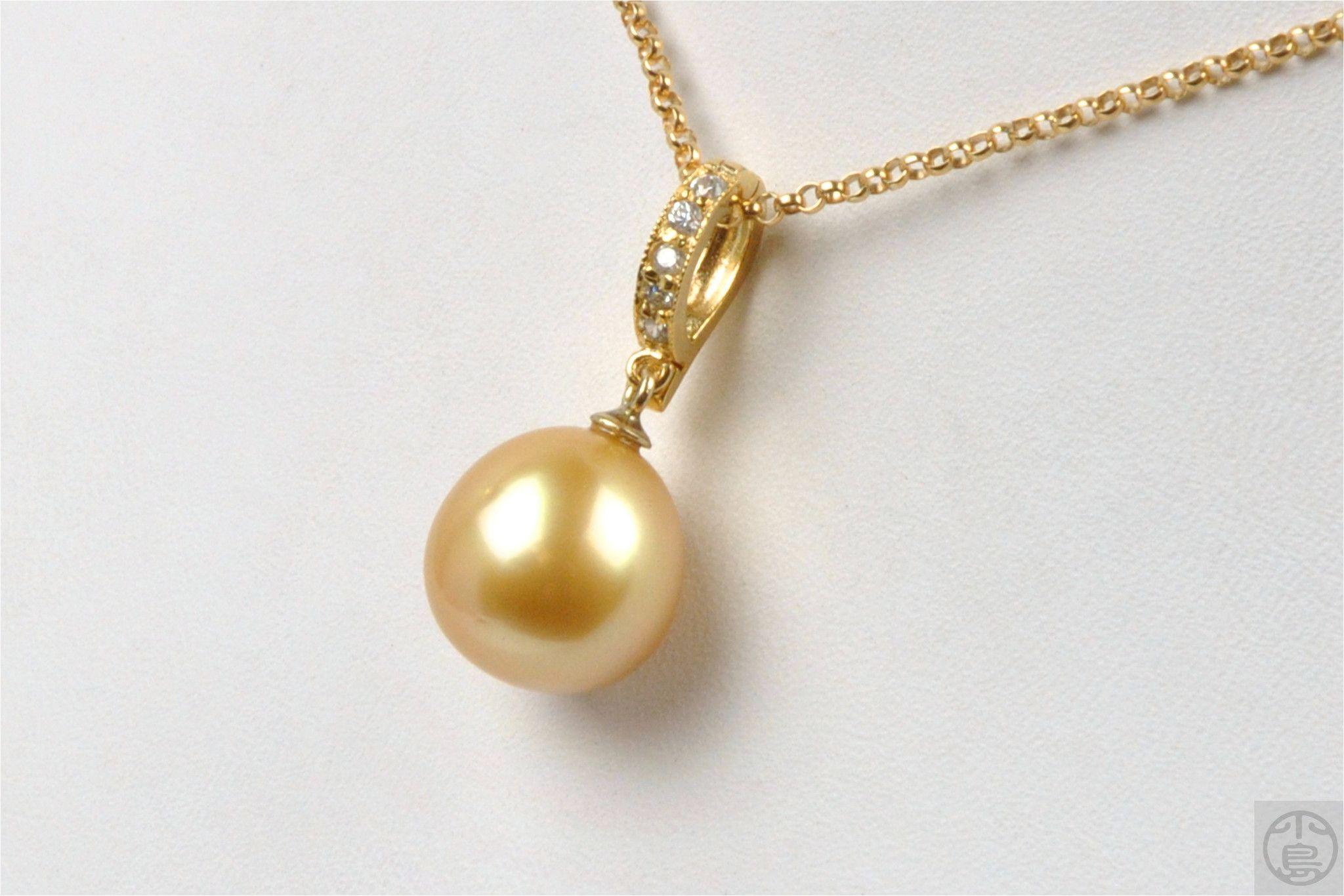 deep golden south sea pearl pendant enhancer