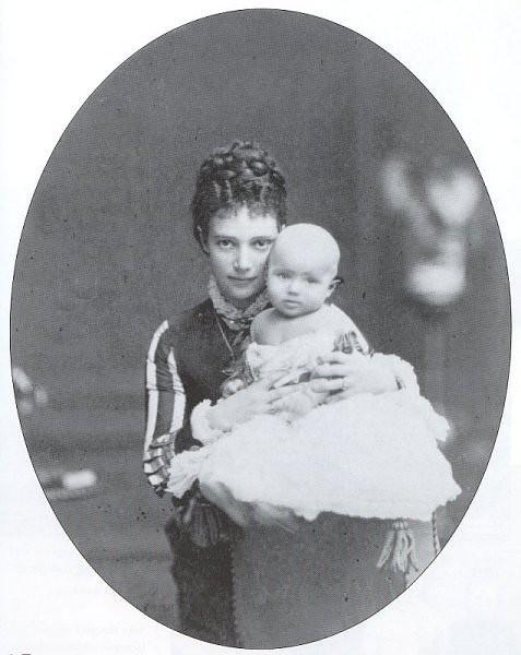С матерью, Цесаревной Марией Феодоровной. 1868 г. в 2020 г ...