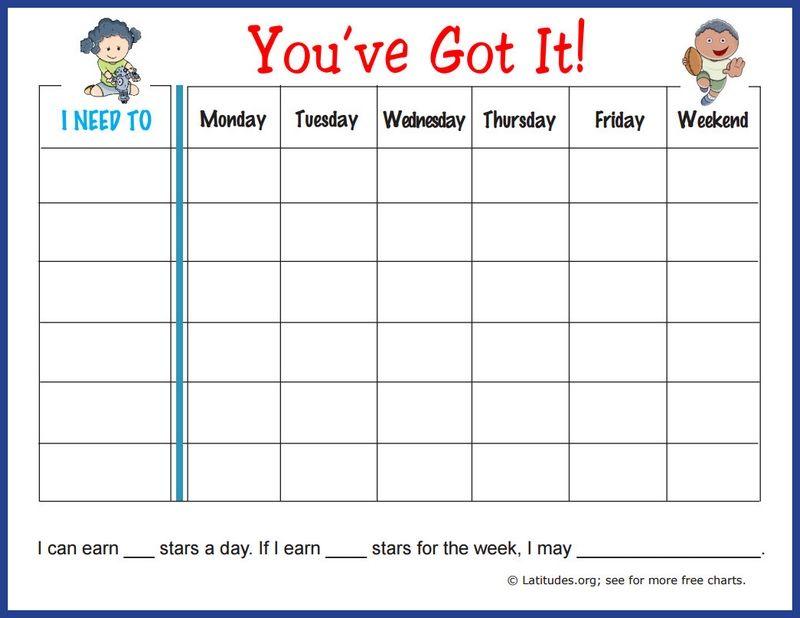 Free weekly behavior chart you  ve got it also reward systems rh pinterest