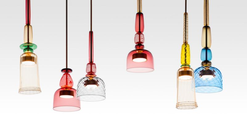 I adore these LED pendants with hand-blown Murano glass~ I Flauti by Giopato & Coombes #Iflauti #conranshop #murano