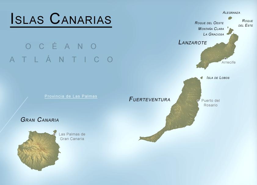 las palmas mapa Mapa físico de la Provincia de Las Palmas   Datos   Pinterest las palmas mapa